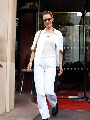 Bella Hadid is seen out and about in Paris, on September 26, 2019.  (Photo by Mehdi Taamallah/NurPho...