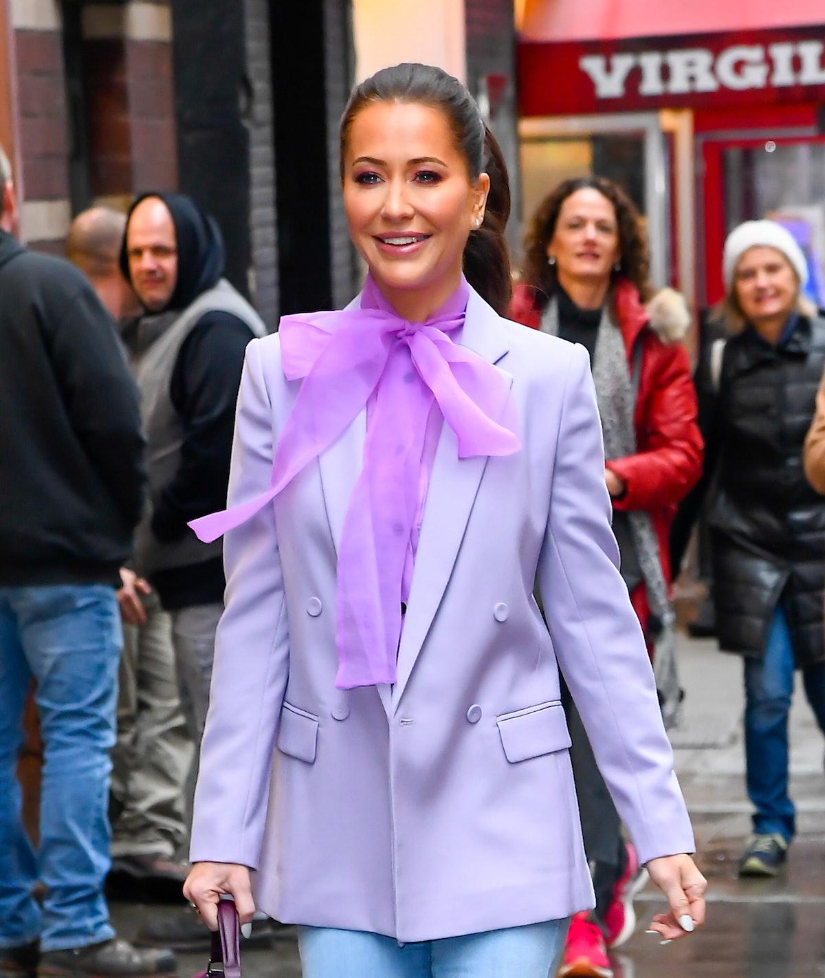 NEW YORK, NY - FEBRUARY 26:  Fashion Stylist Jessica Mulroney is seen outside good morning america o...