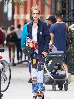 NEW YORK, NEW YORK - SEPTEMBER 08: Bella Hadid is seen on September 08, 2019 in New York City. (Phot...