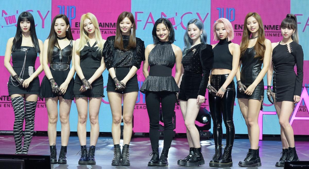 SEOUL, SOUTH KOREA - APRIL 22: TWICE attends TWICE's 7th Mini Album 'FANCY YOU' Release Showcase at ...