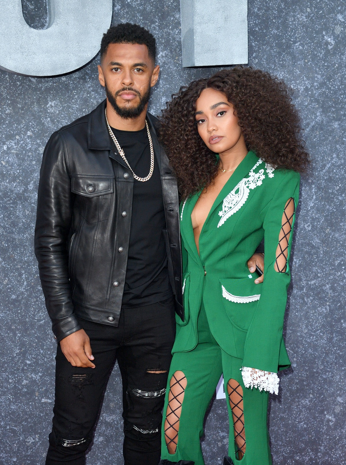 """LONDON, ENGLAND - SEPTEMBER 04: Andre Gray and Leigh-Anne Pinnock attend the """"Top Boy"""" UK Premiere a..."""