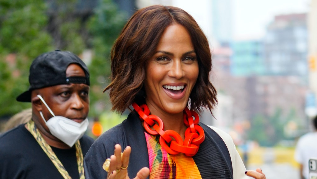 """NEW YORK, NEW YORK - JULY 13: Nicole Ari Parker is seen on location for """"And Just Like That"""", the ne..."""