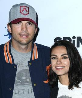 LOS ANGELES, CA - AUGUST 23:  Ashton Kutcher, Mila Kunis arrives at the 6th Annual PingPong4Purpose ...