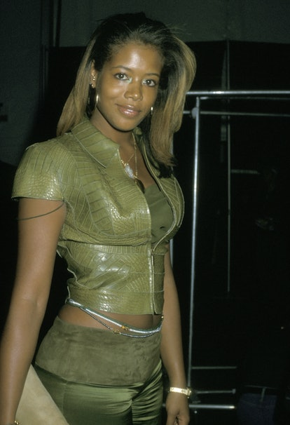 Kelis during Luca Luca Fall 2002 Fashion Show at Bryant Park in New York City, New York, United Stat...