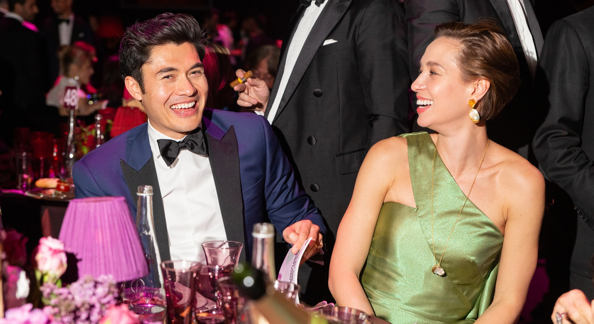 CAP D'ANTIBES, FRANCE - MAY 23: Liv Lo and Henry Golding attend the amfAR Cannes Gala 2019 at Hotel ...