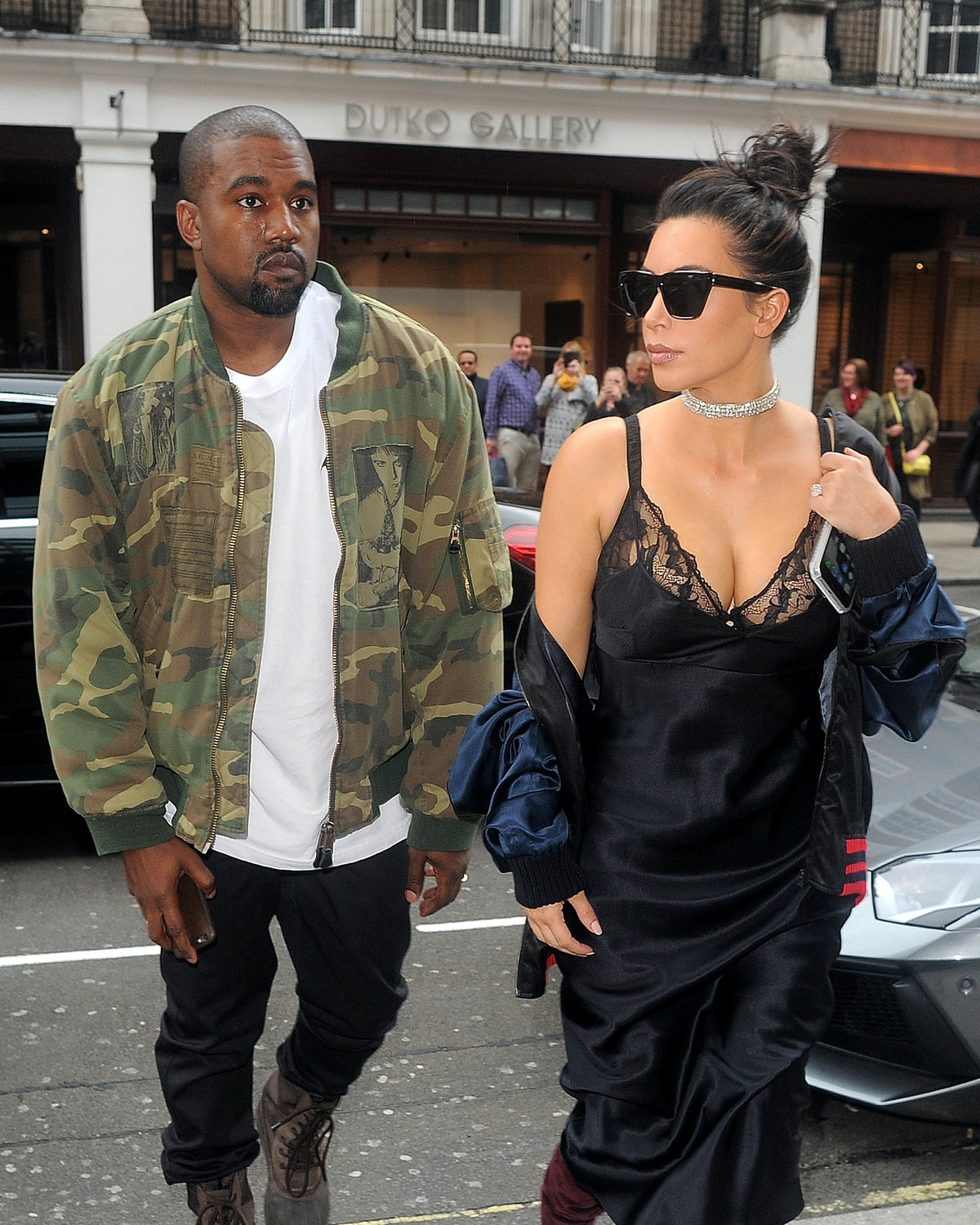 LONDON, ENGLAND - MAY 21: Kim Kardashian and Kanye West lunch date at C restaurant in Mayfair on May...