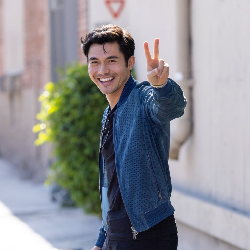 """LOS ANGELES, CA - JULY 20: Henry Golding is seen at """"Jimmy Kimmel Live"""" on July 20, 2021 in Los Ange..."""