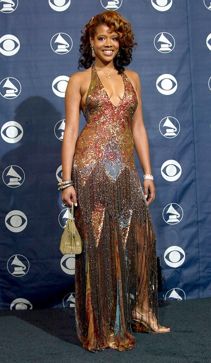LOS ANGELES - FEBRUARY 8:  Singer Kelis poses backstage in the Pressroom at the 46th Annual Grammy A...