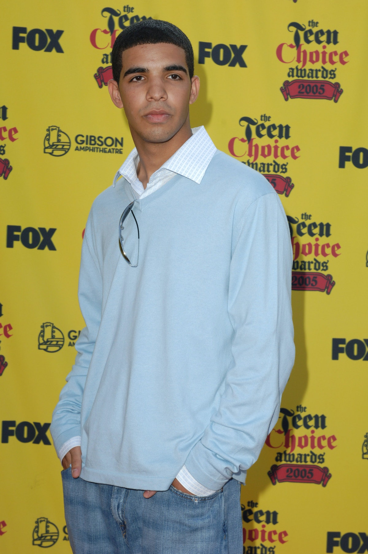 """Aubrey Graham of """"Degrassi"""" during 2005 Teen Choice Awards - Arrivals at Gibson Amphitheatre in Univ..."""