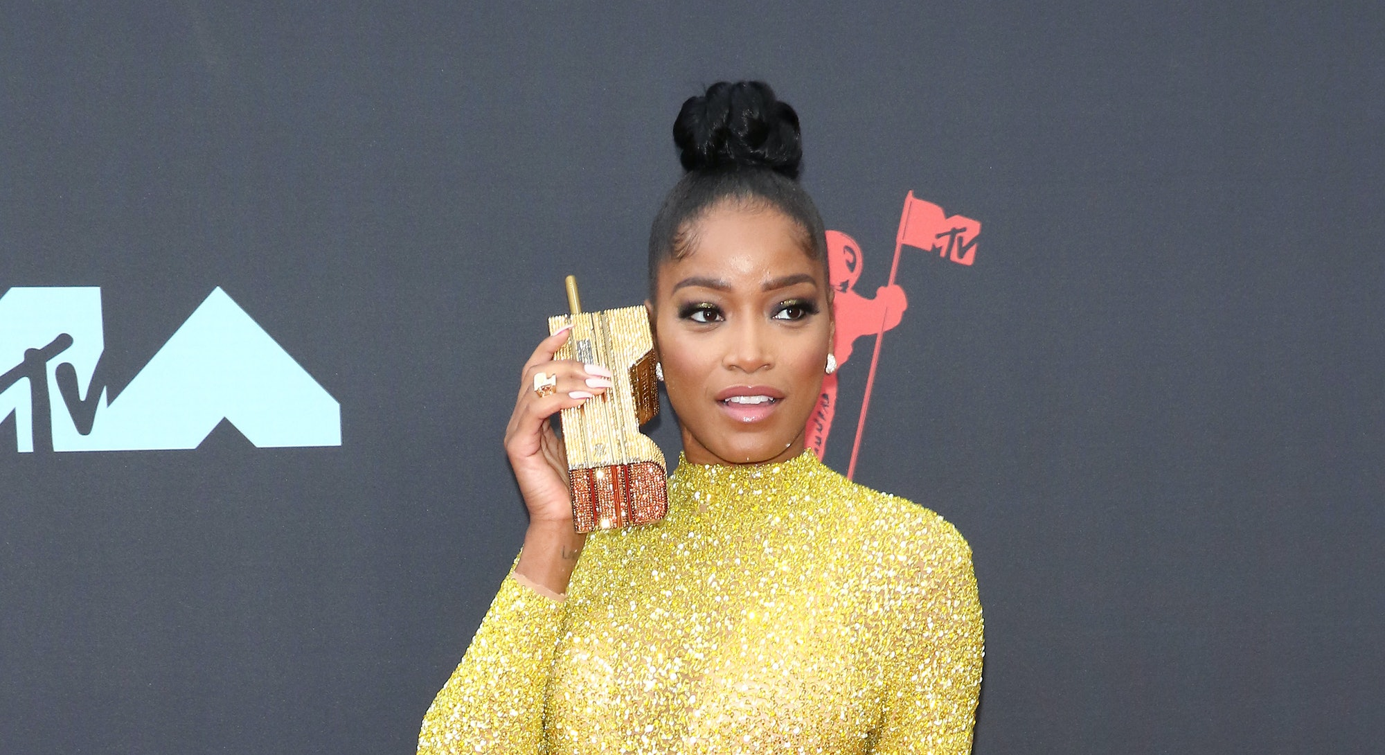 NEWARK, NEW JERSEY - AUGUST 26: Keke Palmer attends the 2019 MTV Video Music Awards at Prudential Ce...