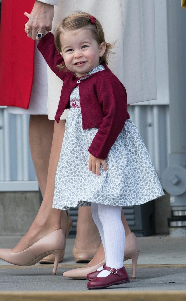 Princess Charlotte loves burgundy.