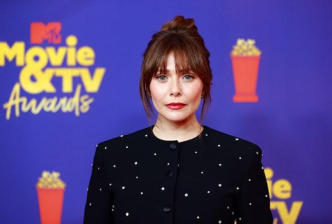LOS ANGELES, CALIFORNIA - MAY 16: Elizabeth Olsen attends the 2021 MTV Movie & TV Awards at the Holl...
