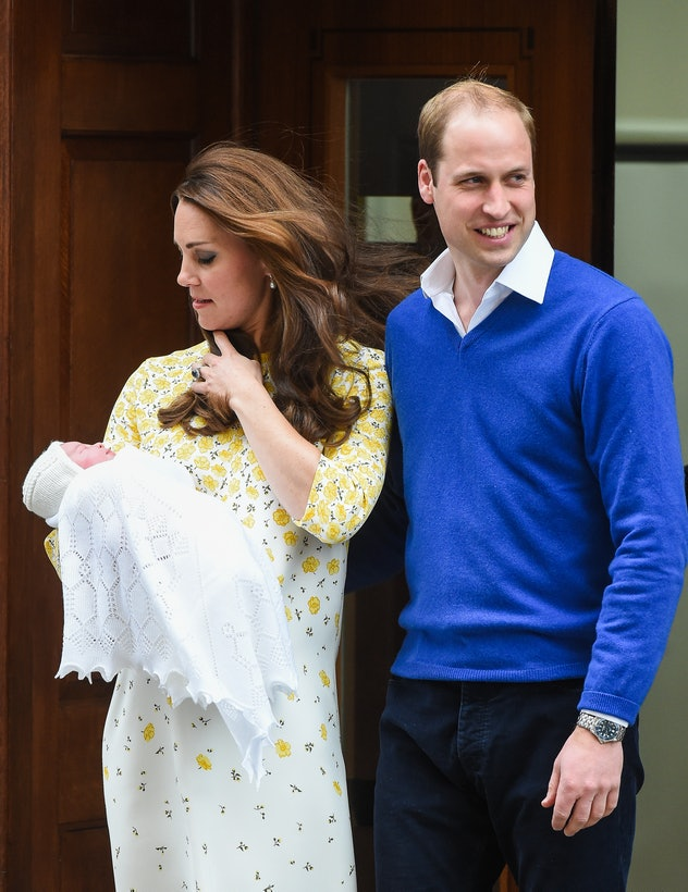 Princess Charlotte wore tasteful white home from the hospital.
