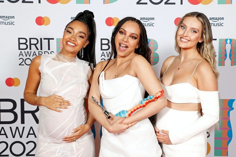 LONDON, ENGLAND - MAY 11: Leigh-Anne Pinnock, Jade Thirlwall and Perrie Edwards of Little Mix pose w...