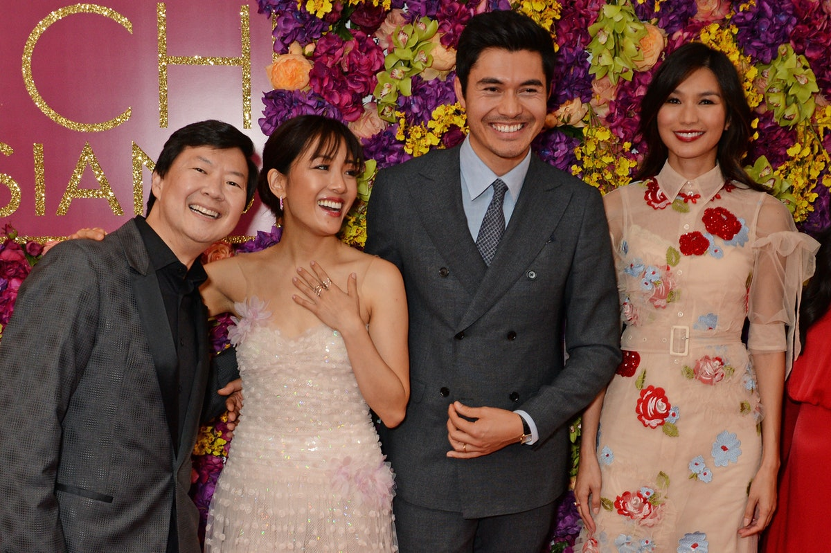 'Crazy Rich Asian' stars Ken Jeong, Constance Wu, Henry Golding, and Gemma Chan in 2018.