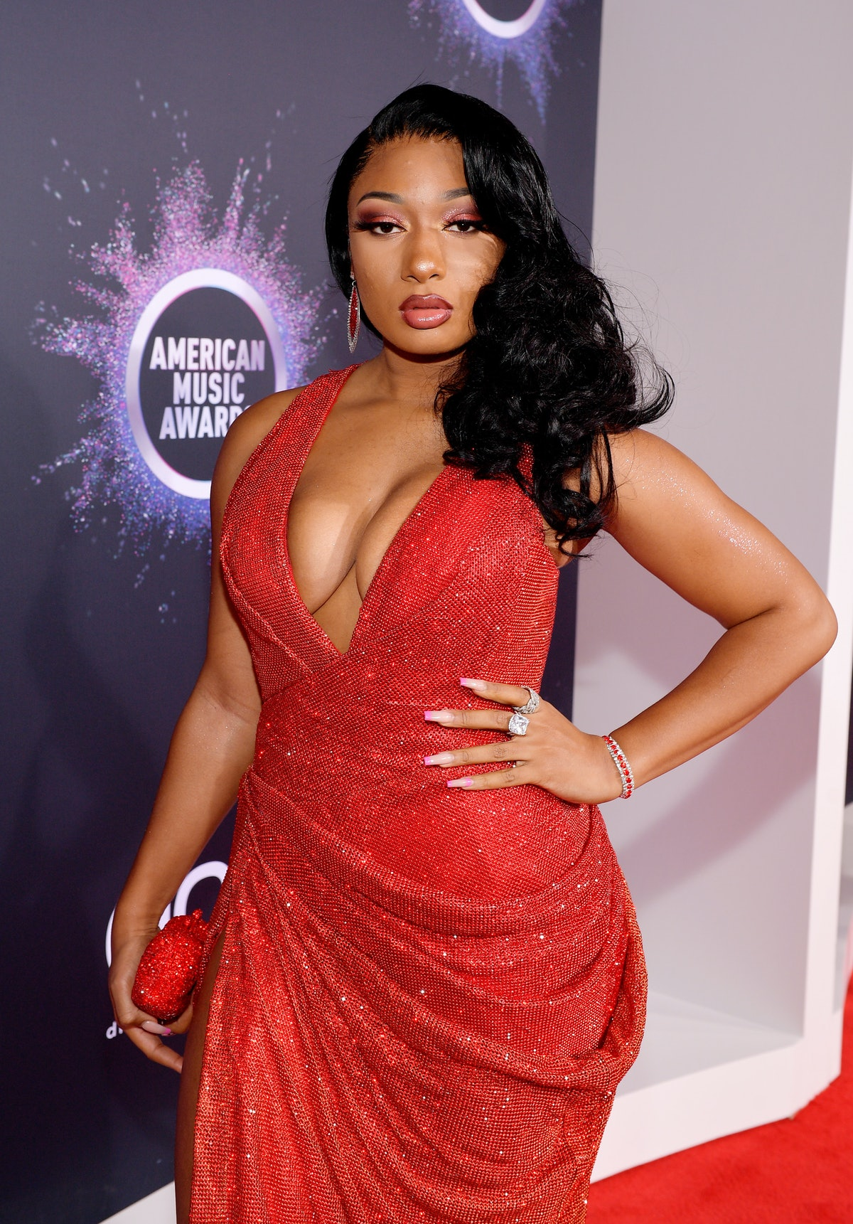 LOS ANGELES, CALIFORNIA - NOVEMBER 24: Megan Thee Stallion attends the 2019 American Music Awards at...