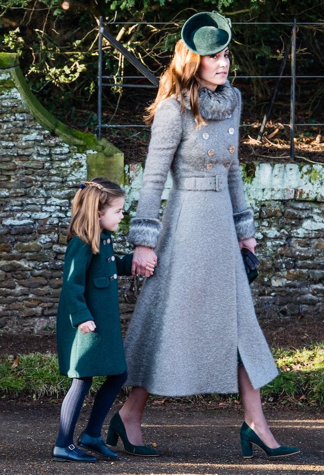Princess Charlotte matched her mom.