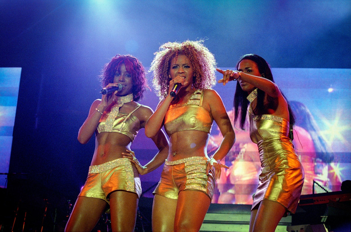 American r&b girl group Destiny's Child, left to right Kelly Rowland, Beyonce Knowles and Michelle W...