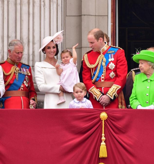 Princess Charlotte's public debut.