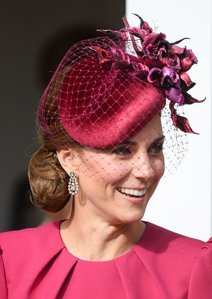 Kate Middleton's hair is always perfectly styled. Here, Catherine, Duchess of Cambridge attends the ...