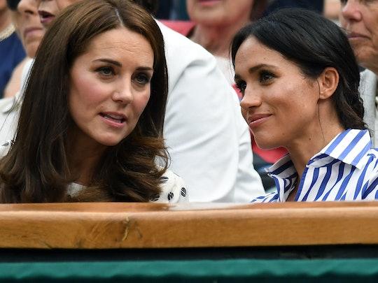 Kate Middleton and Meghan Markle talk on Zoom.