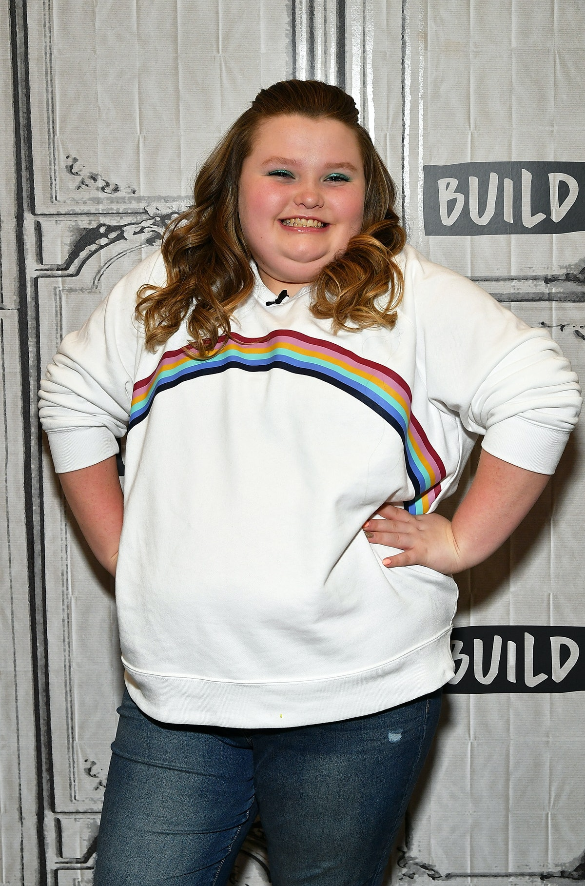 """NEW YORK, NY - MARCH 14:  (EXCLUSIVE COVERAGE) Alana """"Honey Boo Boo"""" Thompson from TLC's reality TV ..."""