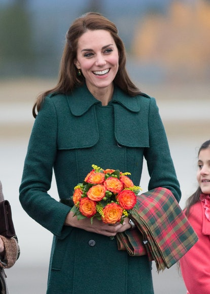 Here's one of Kate Middleton's best hairstyle of all time. Catherine, Duchess of Cambridge arrives a...