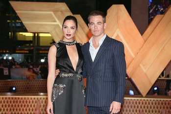 """MEXICO CITY, MEXICO - MAY 27:  Actress Gal Gadot and actor Chris Pine attend the """"Wonder Woman"""" Mexi..."""