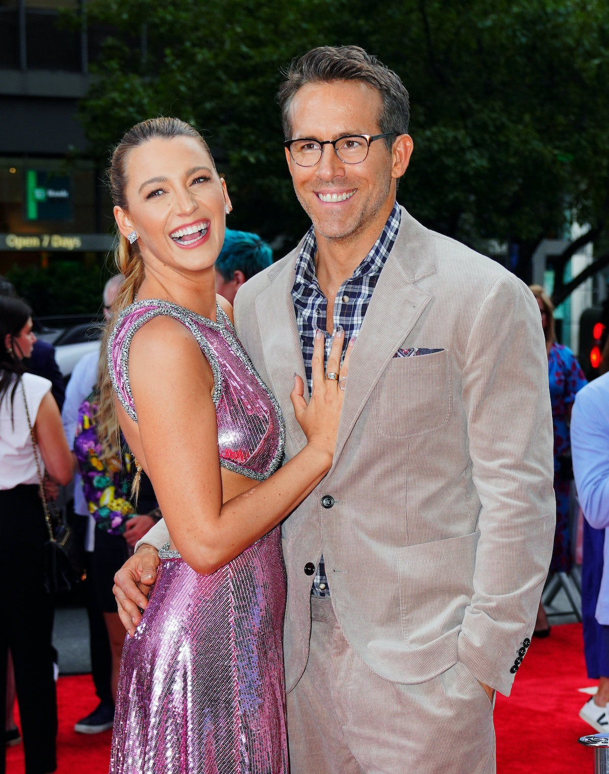 NEW YORK, NEW YORK - AUGUST 03: Blake Lively and Ryan Reynolds at 'Free Guy' Premiere on August 03, ...