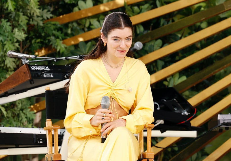 "NEW YORK, NEW YORK - AUGUST 20: Lorde speaks onstage at ""Good Morning America's"" Summer Concert Seri..."