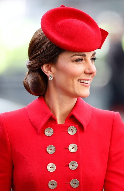 Kate Middleton's red beret is one of her best hair moments. Here, Catherine, Duchess of Cambridge at...