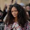 PARIS, FRANCE - MARCH 05: Thandie Newton attends the Louis Vuitton show as part of the Paris Fashion...
