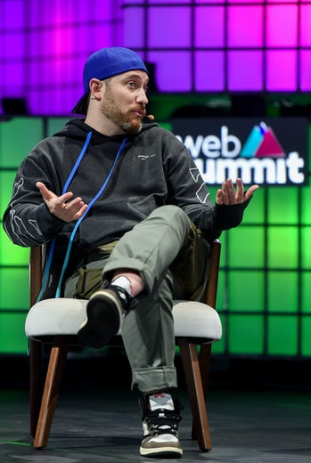 LISBON , PORTUGAL - 7 November 2019; Josh Luber, Co-founder, StockX, on Centre Stage during the fina...