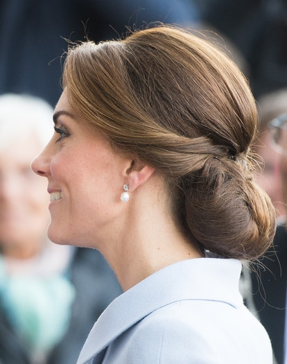 Kate Middleton's Best Hair Moments: Catherine, Duchess of Cambridge visits Bouwkeet with a low chign...
