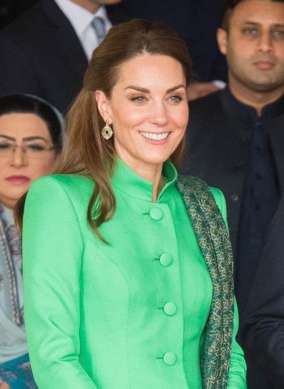 Kate Middleton Best Hair Moments — Catherine, Duchess of Cambridge leaves after meeting Pakistan's P...