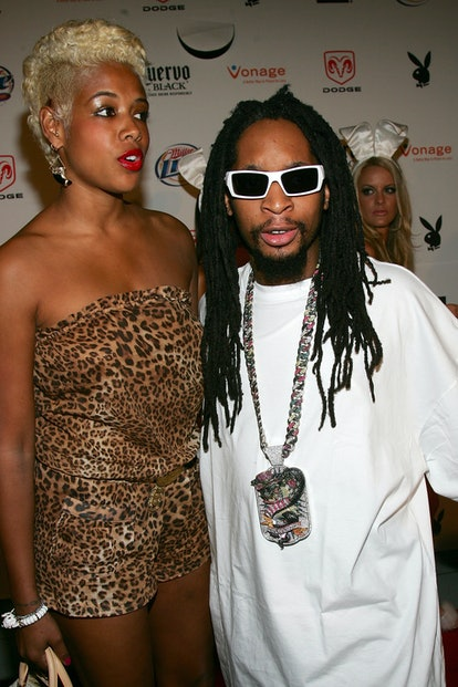 MIAMI - FEBRUARY 03:  Rapper Lil Jon and Kelis arrive at the Playboy Super Bowl Party 2007 at the Am...