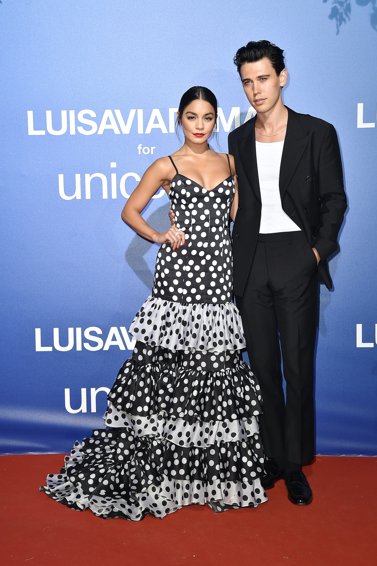 PORTO CERVO, ITALY - AUGUST 09: Vanessa Hudgens and Austin Butler attend the photocall at the Unicef...