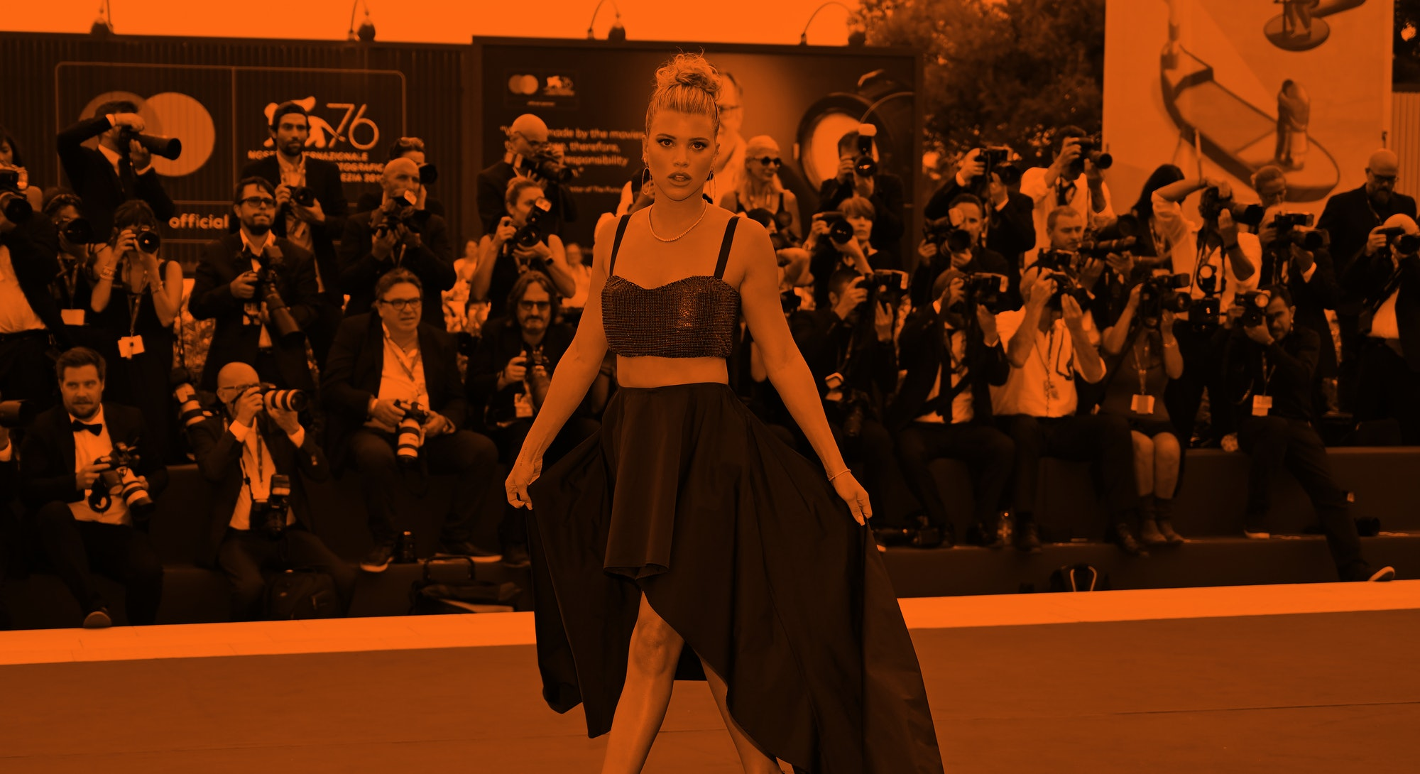 """US model Sofia Richie poses as she arrives for the opening ceremony and the screening of the film """"L..."""