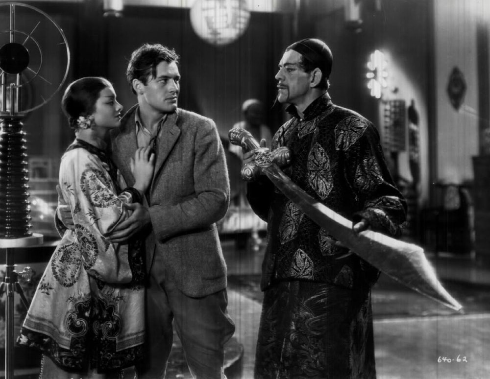 "Motion Pictures (Historic) ""The Mask of Fu Manchu"" Myrna Loy, Charles Starrett & Boris Karloof;  (Ph..."