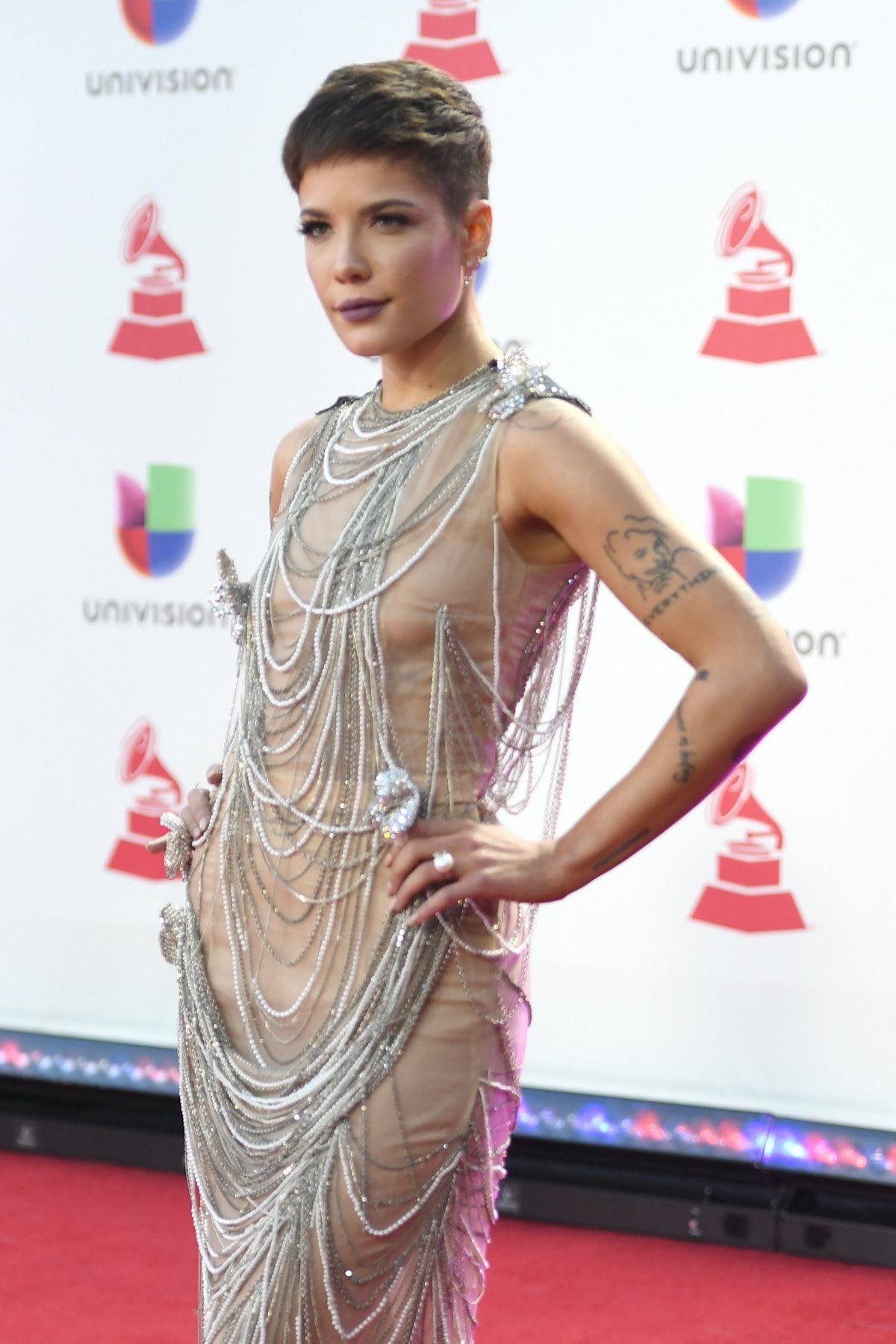 LAS VEGAS, NV - NOVEMBER 15:  Halsey attends the 19th annual Latin GRAMMY Awards at MGM Grand Garden...