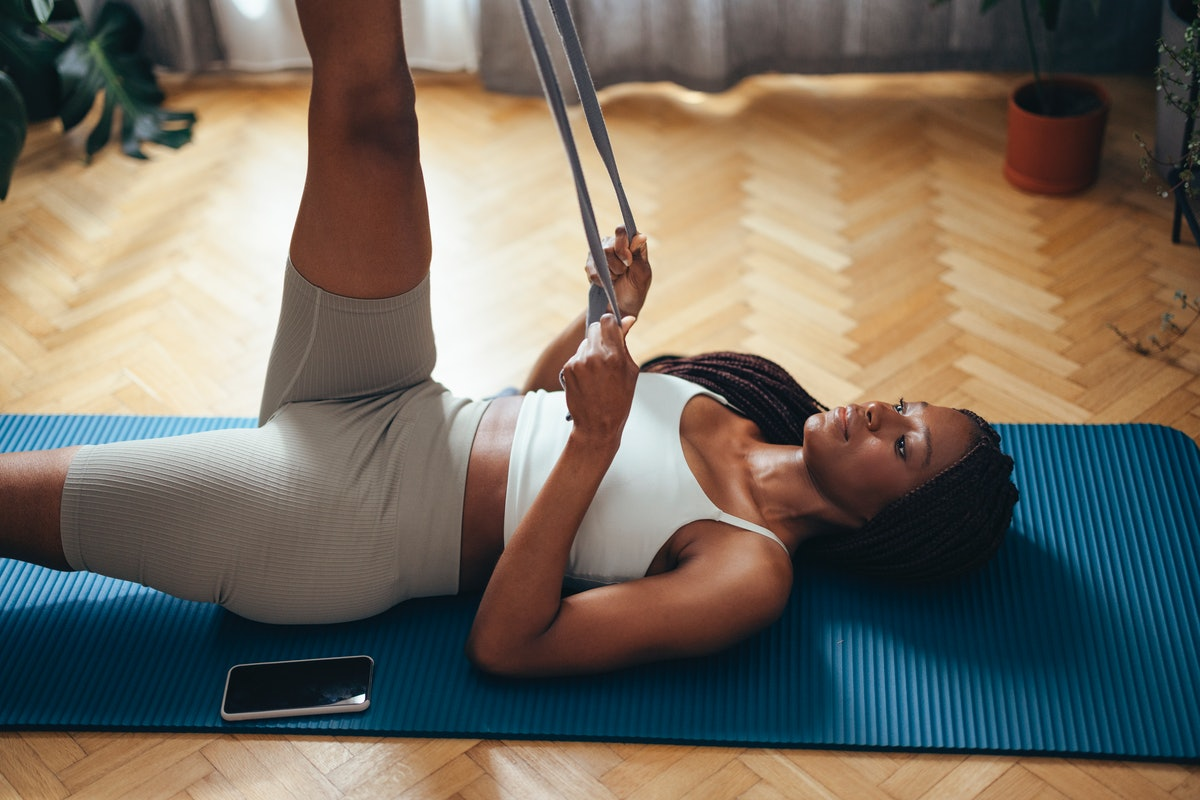 An exercise band adds tension so your muscles have to work harder, which is why it helps to do resis...