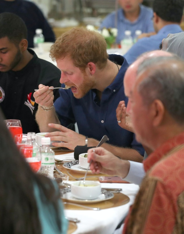 Prince Harry likes all things with banana.