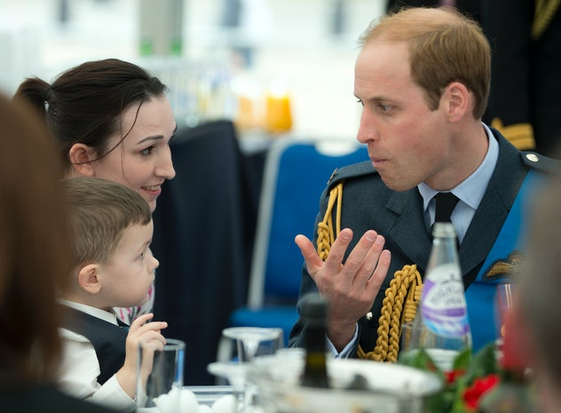 Prince William loves a curry.