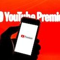 BARCELONA, CATALONIA, SPAIN - 2021/07/26: In this photo illustration a YouTube Premium logo seen dis...