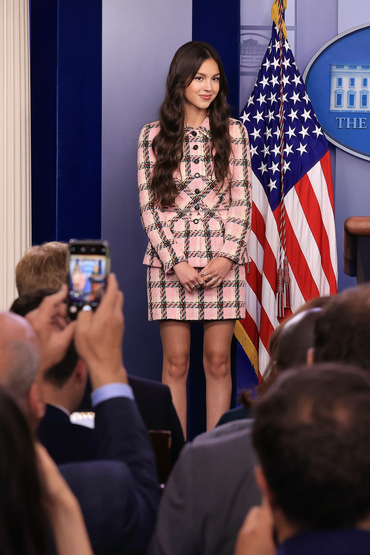 Olivia Rodrigo's pink, plaid Chanel tweed suit is an example of preppy Y2K fashion returning in 2021...