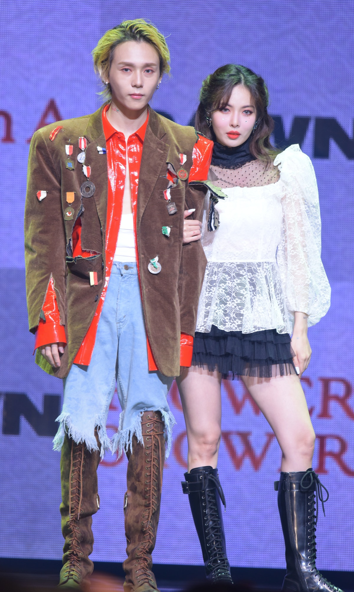 SEOUL, SOUTH KOREA - NOVEMBER 05: Dawn and Hyun-a perform at Dawn's First Single Album 'Money' and H...