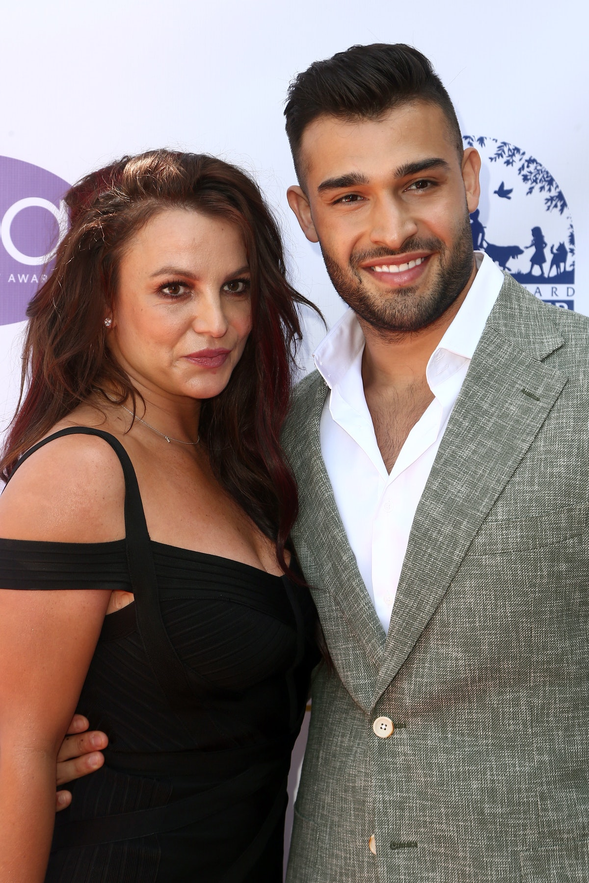 LOS ANGELES, CALIFORNIA - SEPTEMBER 20:  Britney Spears and Sam Asghari attend the 2019 Daytime Beau...