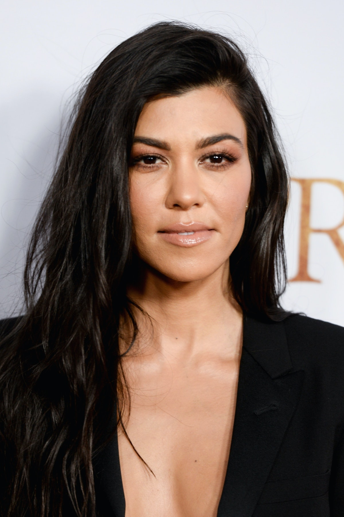 HOLLYWOOD, CA - APRIL 12:  Kourtney Kardashian arrive to the Los Angeles premiere of 'The Promise' a...