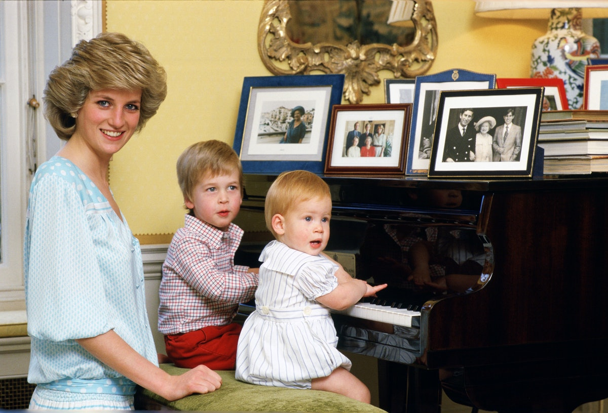 UNITED KINGDOM - OCTOBER 04:  Diana, Princess of Wales with her sons, Prince William and Prince Harr...