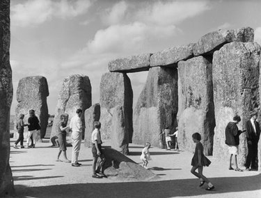 21st September 1966:  Visitors mill around the stones at Stonehenge on Salisbury Plain in Wiltshire....